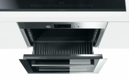 телескопично отваряне на готварса печка Бош